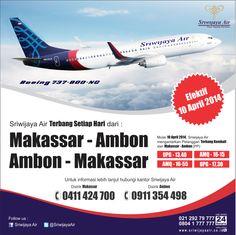 Terbang lagi ke Ambon !!! mulai 10 April 2014. Pesan tiketnya sekarang juga di sriwijayaair.co.id dan dapatkan harga promonya selama seat masih tersedia #SJY
