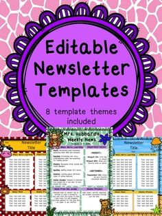 53f76934d46d59c7d7e28e16f79c29d4 Monthly Themed Newsletter Templates on pre owl, real estate, editable blank, printables for april, young women, doc office, for company pdf,