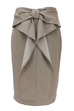 Stone Bow Accent Pencil Skirt