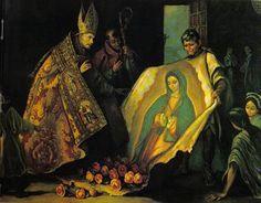 Aparicion de Guadalupe Resumen de la historia de la Virgen de Guadalupe Un sábado de 1531 a principios de diciembre, un indio llamado Juan Diego, iba muy de madrugada del pueblo en que residía a la ciudad de México a asistir a sus clases de catecismo y a oír la Santa Misa. Al llegar junto al cerro llamado Tepeyac amanecía y escuchó una voz que lo llamaba por su nombre.  Él subió a la cumbre y vio a una Señora de sobrehumana belleza,cuyo vestido era brillante como el sol...