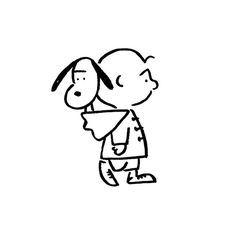 Charlie Brown & Snoopy. #charliebrown #snoopy #yunagaba #kaerusensei #長場雄…