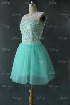 lace bridesmaid dress short bridesmaid dress mint by fitdesign