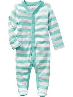 Printed Footed One-Pieces for Baby | Old Navy