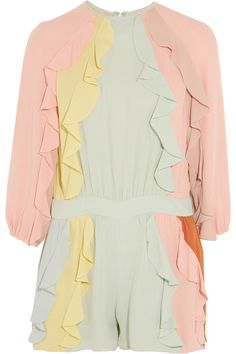 VALENTINO RUFFLED SILK-CREPE PLAYSUIT  1244,66€ http://www.theoutnet.com/product/895867