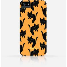 Halloween Spooky Black Cat Pattern iPhone 6 Case iPhone 5 Case iPhone... ($20) ❤ liked on Polyvore featuring accessories, tech accessories, cat, phone, pattern iphone case, slim iphone case, apple iphone cases, iphone cover case and print iphone case