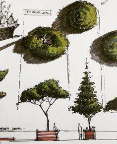 Architecture Drawing Sketchbooks, Landscape Architecture Drawing, Landscape Sketch, Garden Architecture, Landscape Drawings, Concept Architecture, Landscape Design, Landscape Paintings, Famous Architecture