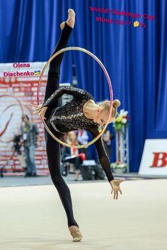 Olena DIACHENKO (Ukraine)🇺🇦 ~ Hoop @ World Challenge Cup Minsk 05-06/08/'17🇧🇾 😚😚