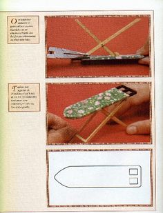Mini ironing board for dollhouse - illustrated instructions in Italian | L'Asse da Stiro