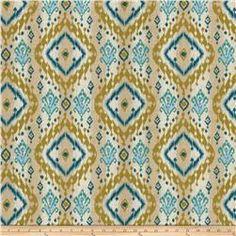 Isabelle De Borchgrave Keates Linen/Cotton Teal