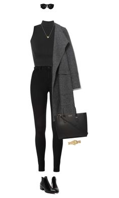 Designer Clothes, Shoes & Bags for Women Teen Fashion Outfits, Mode Outfits, Look Fashion, Fall Outfits, Fashion Women, Paris Fashion, Grey Fashion, Cute Casual Outfits, Stylish Outfits