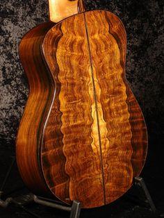 Brazilain Rosewood Classical Guitar Back by Tom Bills