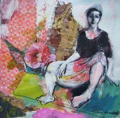 "Saatchi Art Artist Fotini Hamidieli; Collage, ""in the garden"" #art (NG)"