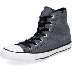 Converse Women's Embossed Hi-Top - Black, Size 5m/7w ($45) ❤ liked on Polyvore featuring shoes, sneakers, black, laced up shoes, black trainers, lace up sneakers, black sneakers and black lace up sneakers