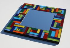 SALE Multicolor Mosaic Mirror Stained Glass by MudHorseArt, $95.00