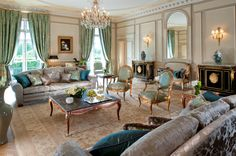 Presidential Apartment at Le Meurice, Paris designed by Charles Jouffre.