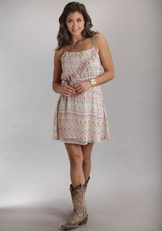 Sashy Ruffles Cowboy Dress by Stetson at www.weseternshirts.com.  So sweet!