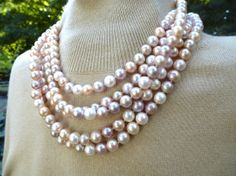 8 Foot Pearl Rope Sherbet Pastel Colors by PatriciaSaabDesigns