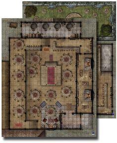 Pathfinder Flip Mat: Urban Tavern [PZOSQW30044] : PixelPark ...