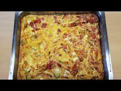 Παραδοσιακή Ομελέτα φούρνου# Traditional Omelette Oven - YouTube Omelettes, What's For Breakfast, Frittata, Greek Recipes, Lasagna, Oven, Traditional, Ethnic Recipes, Baby