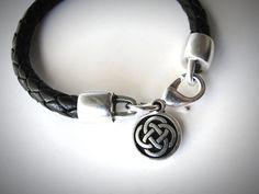 Outlander Leather Bracelet Celtic Knot celtic bracelet Irish knot Scottish St Patricks