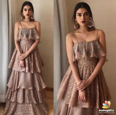 Explore the best of Aditi Rao Hydari outfits from which all the bridesmaids and bride-to-be can take inspiration from to glam up your look! Indian Gowns Dresses, Indian Fashion Dresses, Indian Designer Outfits, Designer Dresses, Indian Wedding Outfits, Indian Outfits, Wedding Dresses, Lehenga Designs, Bollywood Fashion