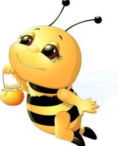 lovely cartoon bee set vectors 15 Pěkné Komiksy, Pin Up Cartoons, Pěkné Kresby, Slunečnice, Včelařství, Kawaii, Legrácky