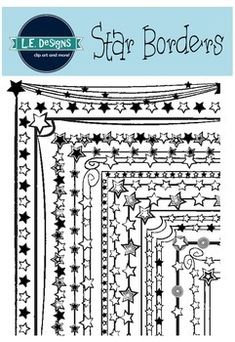 This border pack includes 15 fun starry designs for your resources and lessons plans. These borders are in high resolution and can be enlarged. All images are in .png format and can be layered in your projects and lesson materials easily. L.E. Designs is created by Lauren Davidson.