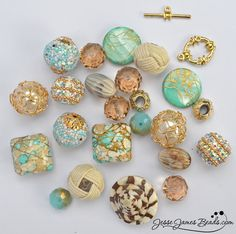 New Jesse James Beads, Inspired by the Sea - Inspiration Mix in Warm Sands #DIY Jewelrymaking