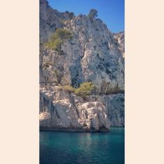 Ten miles from Marseille lie the hidden bays of calanques. Bays are accessible only by boats or hiking boots. This time we choose a boat trip from Cassis harbour. Next time we definetly reserve four hours more time to visit in Cassis and hike to the calanques and swim in the bay. #calanques #cassis #rivieramerci Bays, Study Abroad, Mount Rushmore, Hiking Boots, Swimming, France, Mountains, Travel, Outdoor