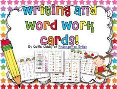 Classroom Freebies: Word Work/Writing Cards Update!