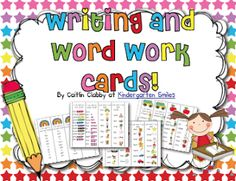 Classroom Freebies: Word Work/Writing Cards Update!