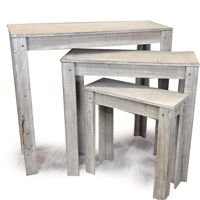 Even the tables they sell follow the Rule of 3 in The Big Book of Window Displays Especially for Consignment & Resale Shops! Nesting Retail Display Tables http://TGtbT.com/shopbuild#2