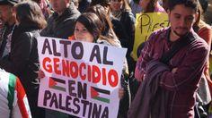Marcha contra la guerra en Gaza.