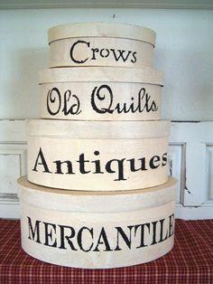 all white country primitive decor | Decor - Shaker Boxes - Country Quackers Primitives-Primitive Country ...
