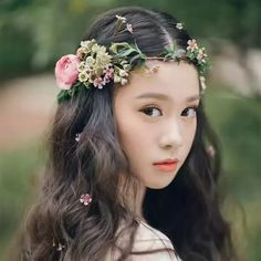 Girl's Accessories Festival Wedding Wreath Garland Crown Flower Headpiece Photography Tool For Adults And Children