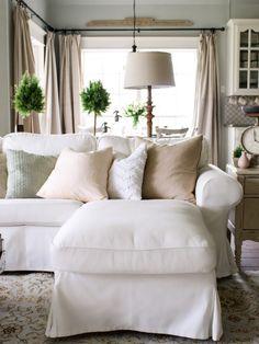 CottonStem.com white sofa with children IKEA Ektorp review