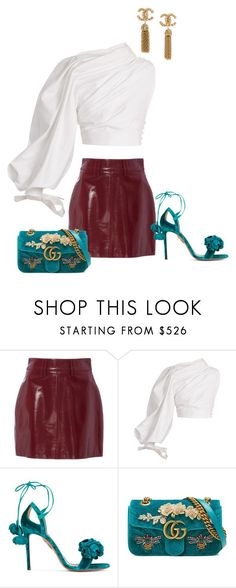 """Untitled #599"" by milly-oro on Polyvore featuring Jacquemus, Aquazzura and Gucci"
