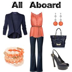 All Aboard, created by jesshehr on Polyvore    _______________________________    I personally like to be comfortable on the plane, but Heck! This still a damn cute outfit(: