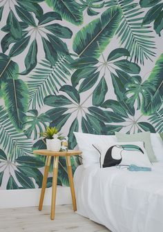 6 tropical murals wallpaper