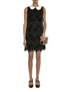 Satin-collar lace dress | Dolce & Gabbana | MATCHESFASHION.COM US