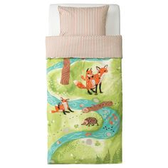 VANDRING RÄV Duvet cover and pillowcase(s) - IKEA $19.99 -make into fitted crib sheet or blanket