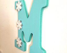 9 Inch, Disney's Frozen Inspired Wooden Wall Letter-- Nursery, Girls Room