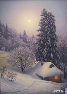 Winter Landscape, Landscape Art, Winter Scenery, Beautiful Dream, Little Houses, Winter Wonderland, Alaska, Snow, Album