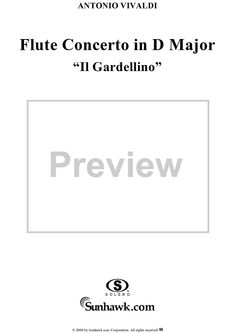 "Flute Concerto in D Major (""Il Gardellino""), op. 10, no. 3  (Flute Part) Sheet Music Preview Page 6"