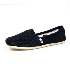 New Arrival Toms women shoes corduroy black