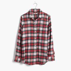 Flannel Slim Boyshirt in Tempe Plaid : boyshirts | Madewell