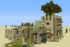 Medieval Desert House 2 - GrabCraft - Your number one source for MineCraft buildings, blueprints, tips, ideas, floorplans! Minecraft Building Guide, Minecraft Plans, Minecraft City, Minecraft Construction, Minecraft Survival, Minecraft Tutorial, Minecraft Blueprints, Minecraft Designs, How To Play Minecraft