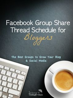 Grow your blog and social media accounts with this full schedule of Facebook Groups for bloggers!