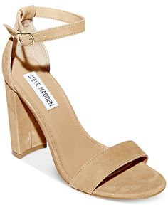 Steve Madden Women's Carrson Ankle Strap Sandal Sand Suede Size 10 M Ankle Strap Block Heel, Ankle Straps, Ankle Strap Sandals, Dress And Heels, Dress Sandals, Suede Sandals, Shoes Sandals, Tie Shoes, Suede Shoes