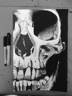 Skull drawing and more skull designs and art inspirations at skullspiration.com